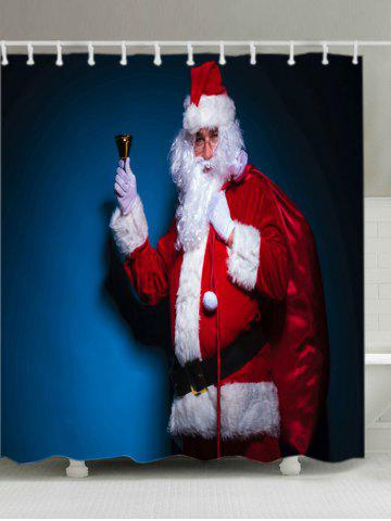 Outfits Christmas Santa Claus Print Fabric Waterproof Bathroom Shower Curtain RED W71 INCH * L71 INCH