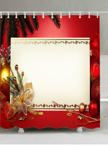 Outfits Christmas Decoration Print Fabric Waterproof Bathroom Shower Curtain - W71 INCH * L79 INCH RED Mobile