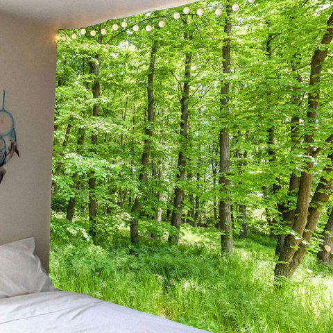 Cheap Waterproof Green Forest Pattern Wall Hanging Tapestry - W79 INCH * L71 INCH GREEN Mobile