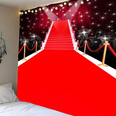 Fancy Red Carpet Stage Pattern Waterproof Wall Art Tapestry - W79 INCH * L71 INCH RED Mobile