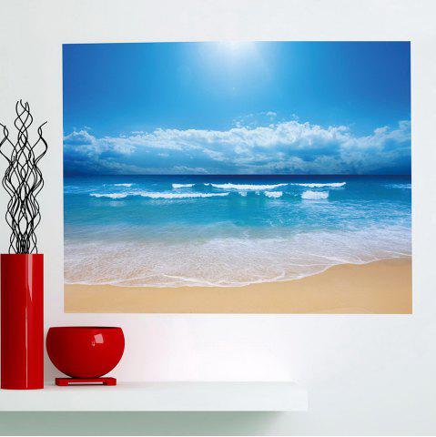 Sale Seascape Beach Printed Multifunction Waterproof Wall Art Painting CLOUDY 1PC:24*35 INCH( NO FRAME )
