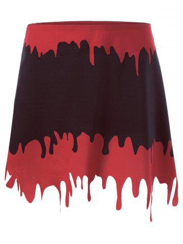 Discount Halloween Blood Drenched A-line Skirt - L BLACK&RED Mobile