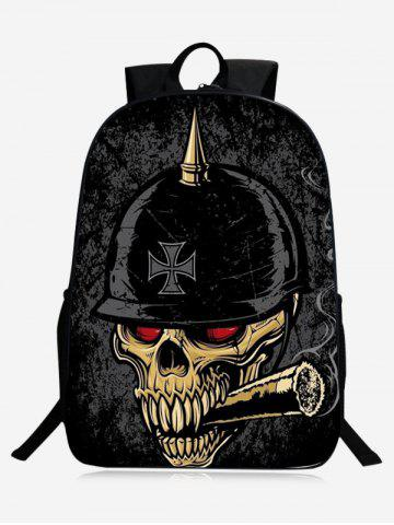 Buy Zip Skull Backpack - BLACK  Mobile