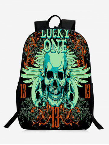 Zip Skull Backpack