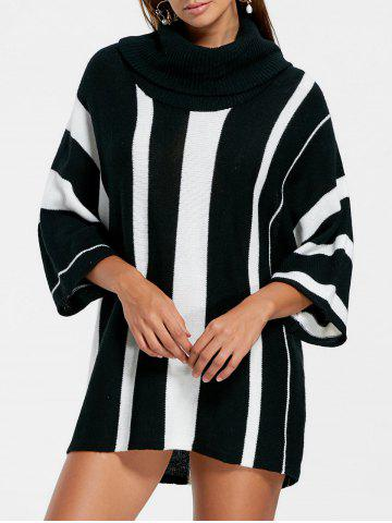 Outfit Turtleneck Striped Sweater - M BLACK STRIPE Mobile