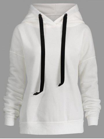 Outfits Drawstring Plus Size Side Zipper Hoodie
