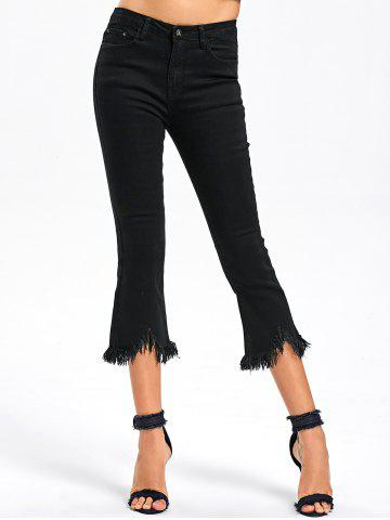 Buy Frayed Hem Capri Jeans