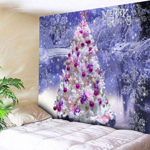 Online Snowflake Christmas Tree Wall Tapestry