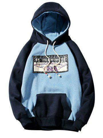 Best 3D Figure Print Applique Zipper Pullover Hoodie