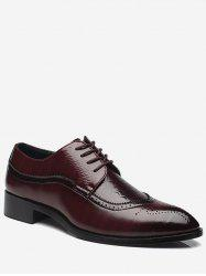 Embossing Lace Up Formal Shoes - BROWN 44