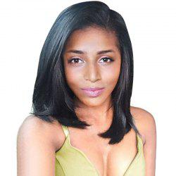 Side Parting Straight Medium Bob Heat Resistant Synthetic Wig -
