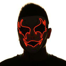 EL Wire Luminous Halloween Costume Mask -