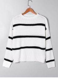 Two Tone Open Knitted Sweater -