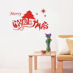 Merry Christmas Wall Art Sticker For Bedrooms -