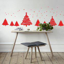 Christmas Tree Pattern Wall Art Sticker For Bedrooms -