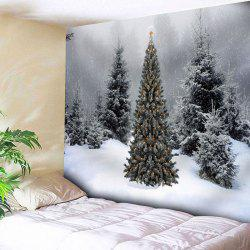 Wall Decor Christmas Snow Tree Tapestry - Gray - W91 Inch * L71 Inch