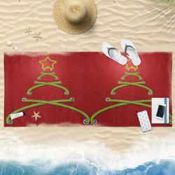 Water Absorption Abstract Christmas Tree Bath Towel -