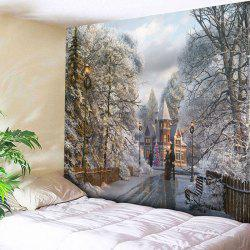 Christmas Graphic Wall Hanging Tapestry - COLORMIX W79 INCH * L59 INCH