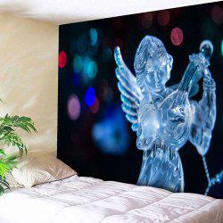 Wall Art Christmas Ice Sculpture Angel Tapestry - BLACK W79 INCH * L59 INCH