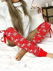 Over The Knee Crochet Christmas Leg Warmer -