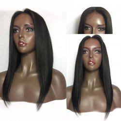 Center Parting Medium Straight Lace Front Human Hair Wig -