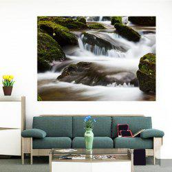 Torrent Creek Patterned Multifunction Removable Wall Art Painting - GREEN 1PC:24*35 INCH( NO FRAME )