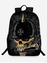 Zip Skull Backpack - BLACK