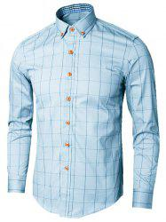 Button Down Collar Checked Shirt -