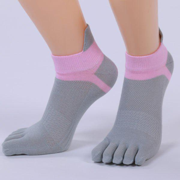 Five Toe Fingers Cotton Blend Ankle SocksACCESSORIES<br><br>Color: GRAY; Type: Socks; Group: Adult; Gender: For Women; Style: Fashion; Pattern Type: Others; Length(CM): 22CM; Width(CM): 11CM; Weight: 0.0310kg; Package Contents: 1 x Socks(Pair);
