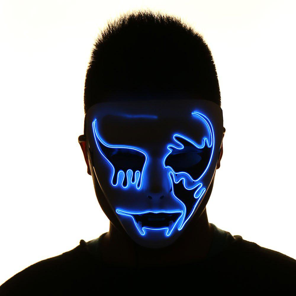 EL Wire Flashing Halloween Cosplay Creepy MaskHOME<br><br>Color: BLUE; Event &amp; Party Item Type: Party Decoration; Occasion: Halloween; Shape/Pattern: Character; Material: Plastic; Package Contents: 1 x Mask 1 x Controller;