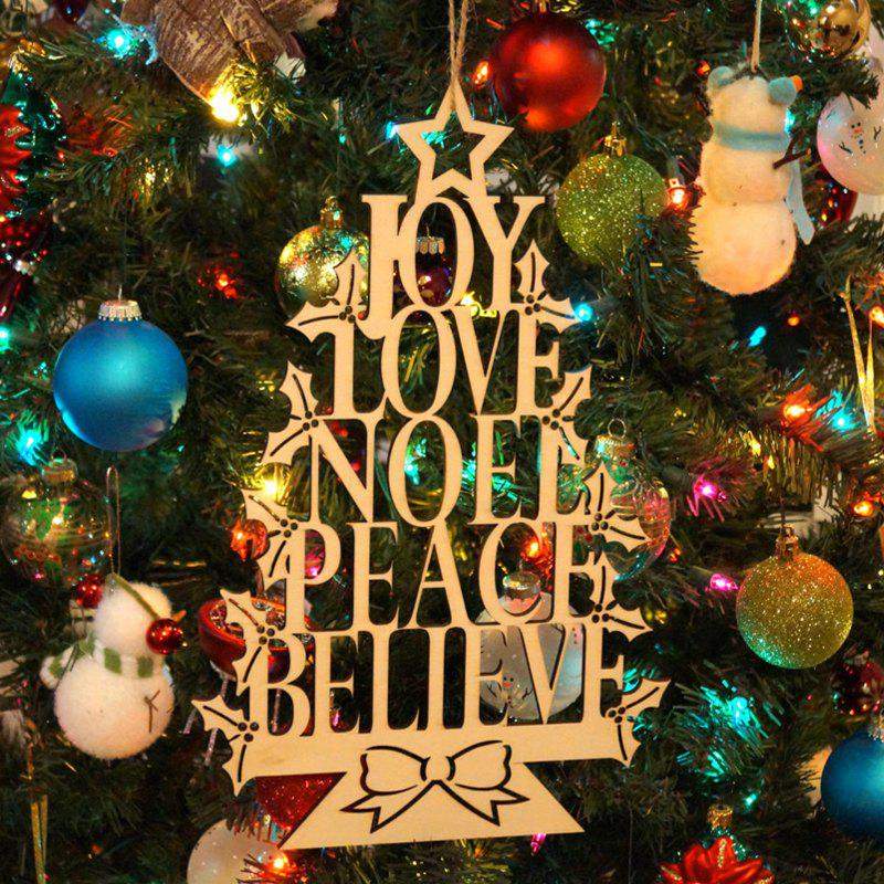 Joy Love Noel Wooden Hanging Sign Christmas Tree DecorationsHOME<br><br>Color: WOOD; Event &amp; Party Item Type: Party Decoration; Occasion: Christmas; Weight: 0.1872kg; Package Contents: 1 x Wooden Hanging Sign;