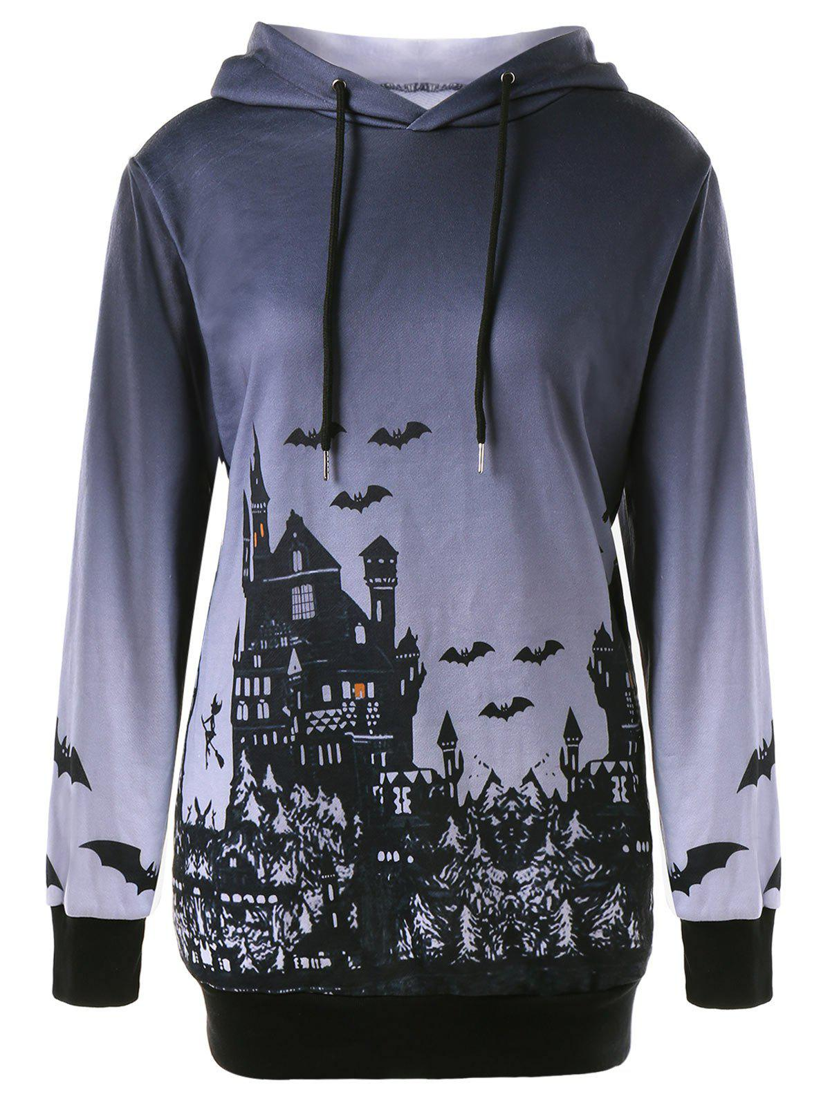 Shop Halloween Plus Size Graphic Hoodie