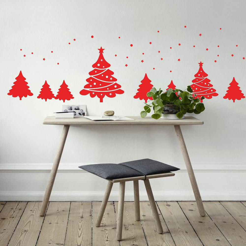 Christmas Tree Pattern Wall Art Sticker For BedroomsHOME<br><br>Size: 56*31CM; Color: RED; Wall Sticker Type: Plane Wall Stickers; Functions: Decorative Wall Stickers; Theme: Christmas; Pattern Type: Plant; Material: PVC; Feature: Removable; Weight: 0.0900kg; Package Contents: 1 x Wall Sticker;