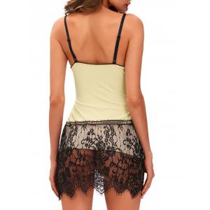 Cami Babydoll with Lace - LIGHT APRICOT S