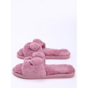 Open Toe Pom Pom Slippers -