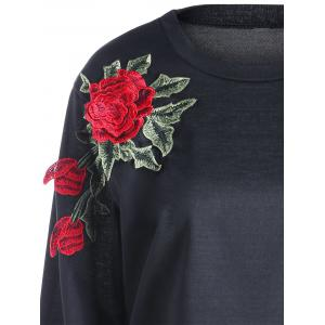 Flower Embroidery Sweatshirt -