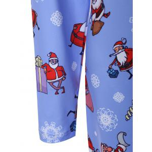 Plus Size Father Christmas Snowflake Printed Dress - CLOUDY 4XL