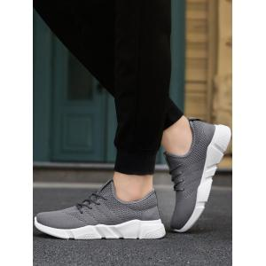 Low Top Tie Up Mesh Sneakers - Gris 44