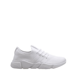 Low Top Tie Up Mesh Sneakers - Blanc 42