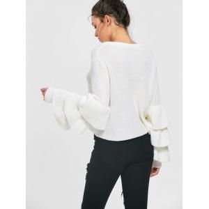 Tiered Flare Sleeve Sweater -