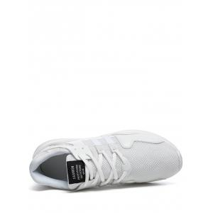 Color Block Mesh Breathable Sneakers - WHITE 43