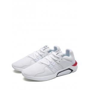 Color Block Mesh Athletic Shoes - WHITE 43