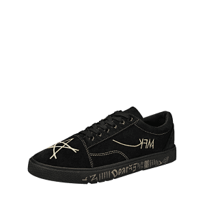 Graphic Print Canvas Sneakers - GOLDEN 43