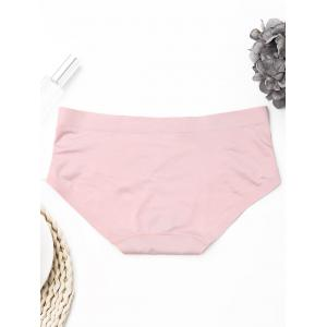 Seamless Mid Rise Panties - LIGHT PINK ONE SIZE