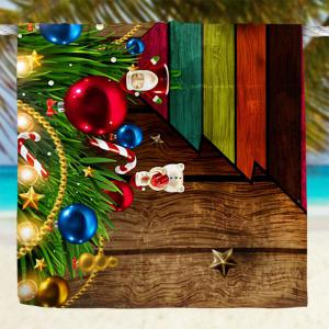 Wood Grain Christmas Tree Print Bath Towel -