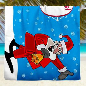 Serviette de bain à absorption d'eau Santa Claus Christmas -