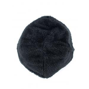 Lettres Label Double-Deck Thicken Knit Hat - Pierre Bleue