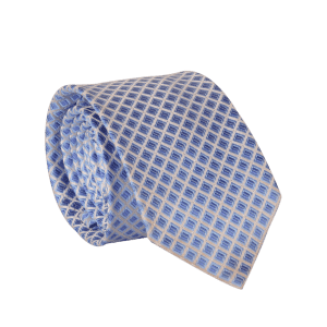 7CM Width Tie with Lattice Jacquard -