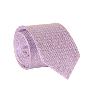 7CM Width Tie with Tiny Floral Jacquard -