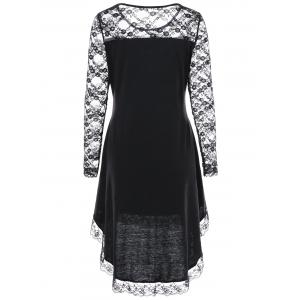 Halloween Lace Up Lace Yoke Cocktail Dress -